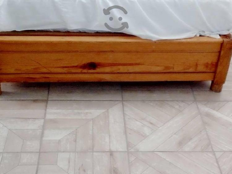 Base de madera para cama matrimonial