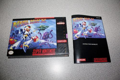 Caja Custom Y Manual Custom Para Tu Juego De Mega Man X Snes