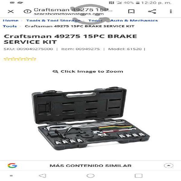 Craftsman kit de herramienta de frenos $1000