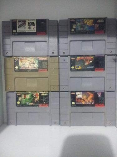 Jgos Super Nintendo, 6 Cartuchos Distintos.