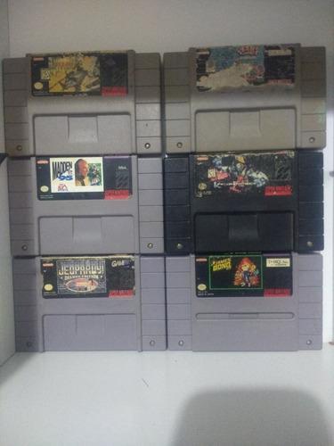 Juegos Super Nintendo, 6 Cartuchos Distintos Juegos.