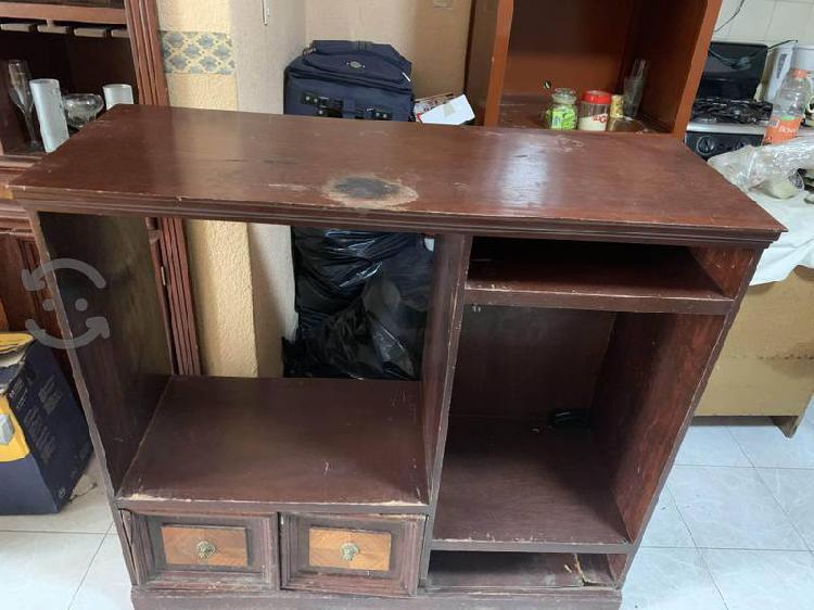 Mueble para tv 100% madera - para reparar o vender