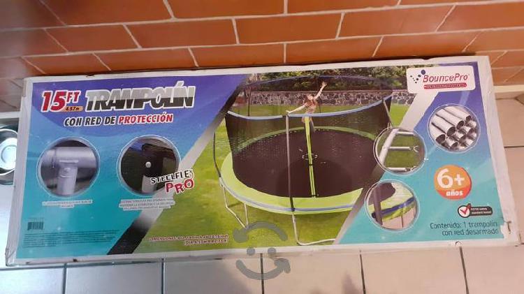 Trampolín con red de seguridad 4.57 metros