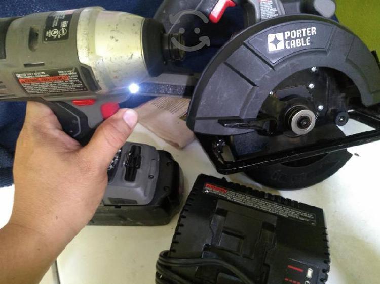 atornillador de impacto y sierra circular inalambr