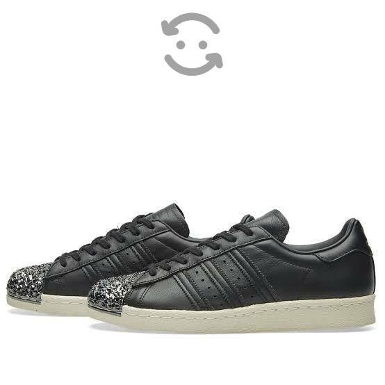 Adidas súper star metal toe