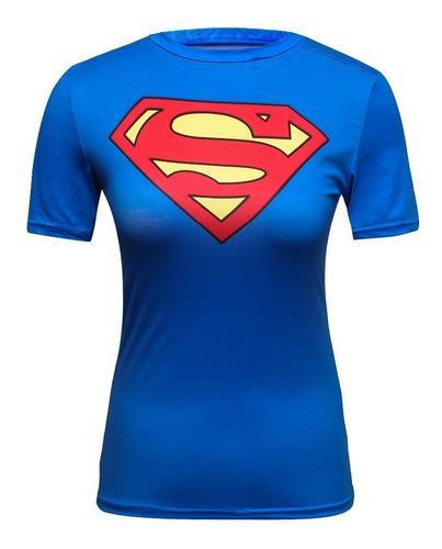 Blusa Manga Corta Mujer Dc Comics Marvel Superman Supergirl