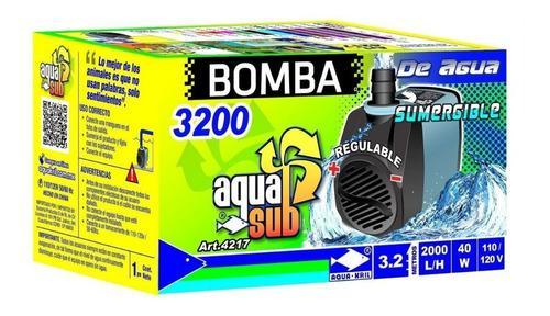 Bomba De Agua Sumergible 2000l/h Aquasub 4217