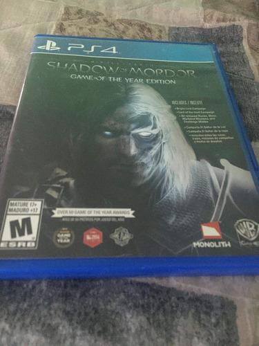 Juego Ps4 Shadow Of Mordor (game Of The Year Edition)