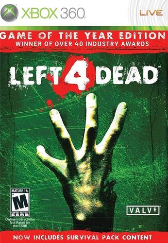 Left 4 Dead - Edición Juego Del Año -xbox 360