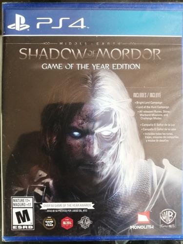 Shadow Of Mordor Edición Juego Del Año