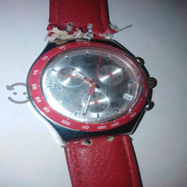 reloj swatch irony acero cronos c/detalle
