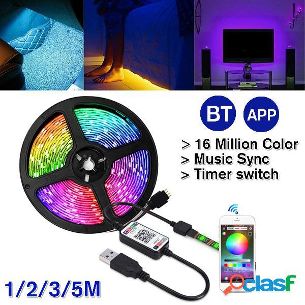 5V Alimentación USB LED Luces de tira 5050 RGB TV Luz de