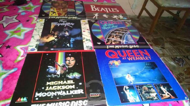 6 Laserdisc Michael Jackson, Queen, Prince Beatles
