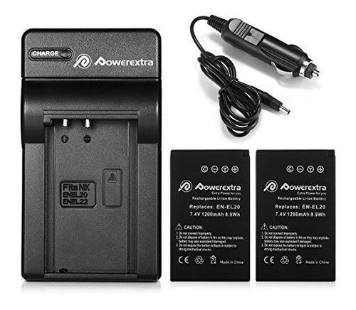 Batería Y Cargador Powerextra 2x (con Cargador De Coche) Pa