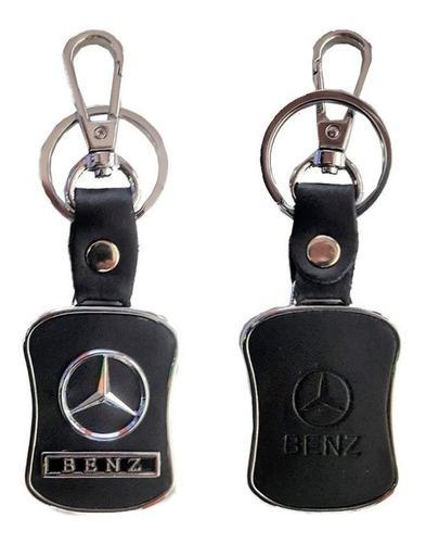 Llavero Piel Cuero Metálico Mercedes Benz Cla Gla