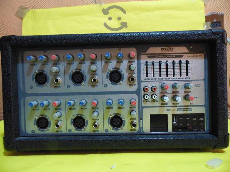 Mescadora Amplificador de 6 canales