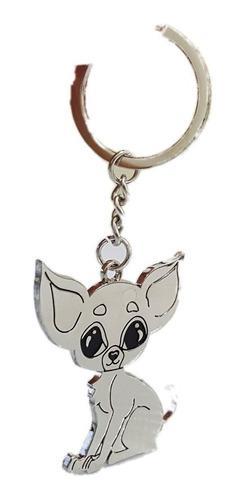 Perro Chihuahua Precioso Llavero Metalico 1215