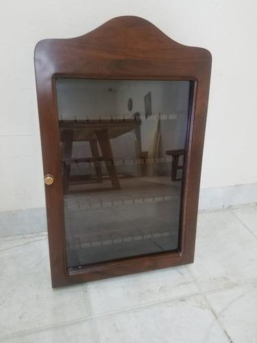 Porta Cucharas Colección Madera Caoba Puerta Cristal 55