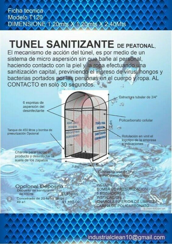 Cabina de sanitizacion