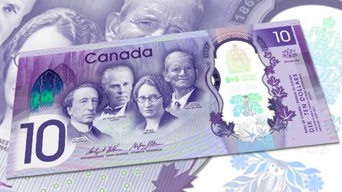 Aa#54 Billete 10 Dollar Canada 150 Aniversario 2017 Nuevo