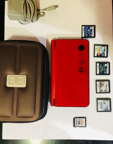 Consola Nintendo Dsi Xl Tipo Mario Bros Color Rojo