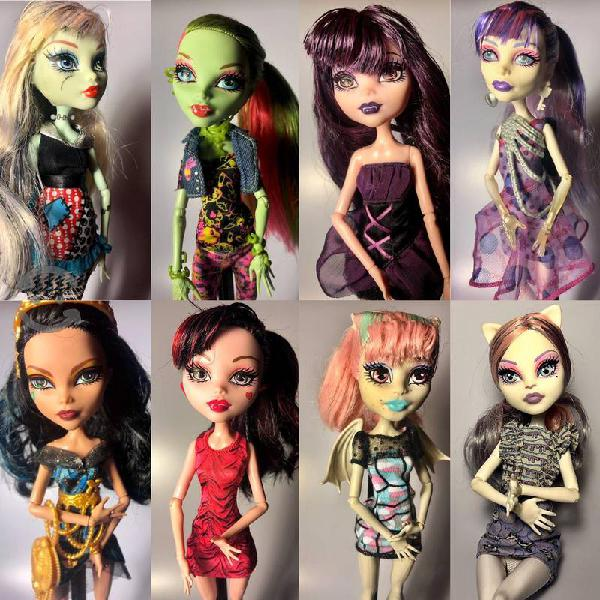 Muñecas Monster High ( 8 seminuevas)