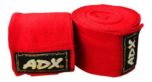 Par De Vendas Para Boxeo Mma Artes M 4.5 M Algodon Adx Rojas