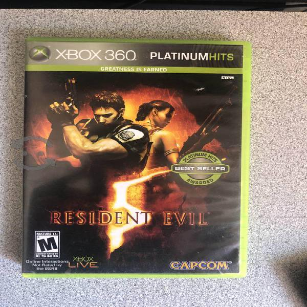 Resident Evil 5 para Xbox 360 impecable