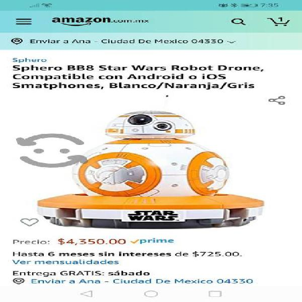 Robot Drone Bb8 Star Wars