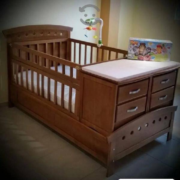 cuna cama individual nueva en madera de pino