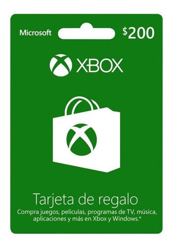 Código De Tarjeta Xbox Gift Card De 200!!entrega