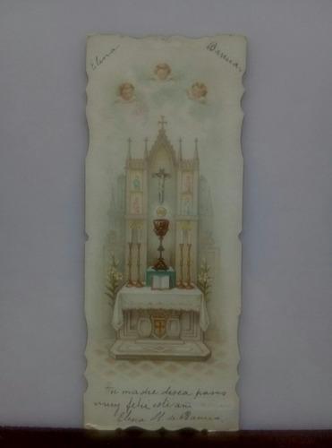 Estampa Religiosa Antigua Arte Sacro Principios De Siglo Xx