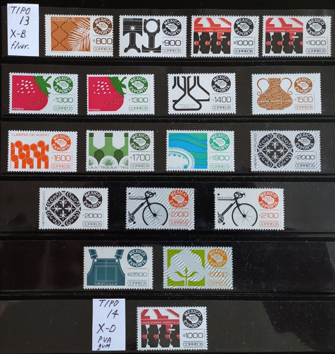 Mexico Serie Exporta Lote Tipos  Timbres Mint Impecab