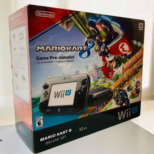 Nintendo Mario Kart 8 Deluxe Set Wiiu 32gb Nuevo Cerrado
