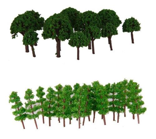 100 Piezas 400-500 Modelos De Árbol Verde Oscuro Accesorios
