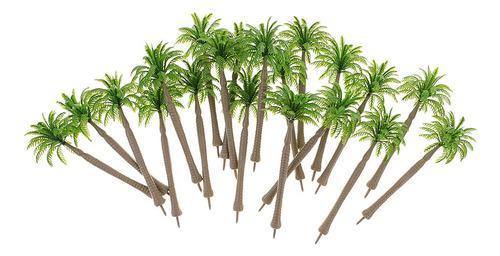20 Pedazos 1/250 Modelos De Árbol Coco Verde Para Diseño