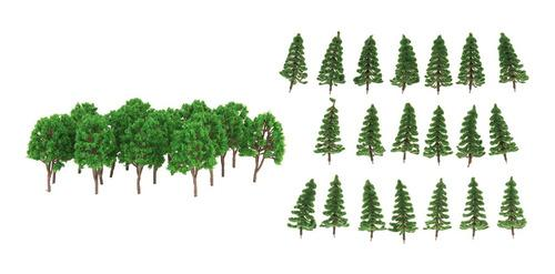 40 Piezas Modelo Árbol Verde 1/150 Escala Ho N Para