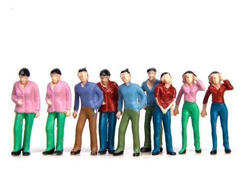 50 Modelo Gente Personas Figuras Pintada A Mano Tren Diorama