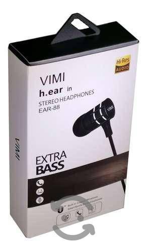 Audifonos Alambricos Manos Libres Extra Bass Hd A
