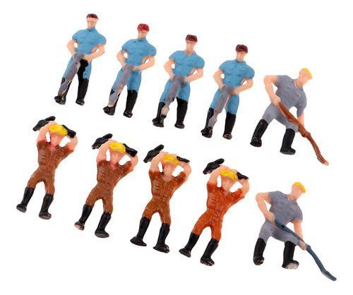 Ho Oo Escala Figura Trabajadores Mini Juguetes Para