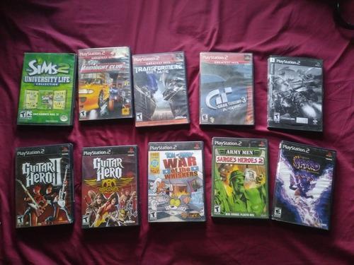 Lote De 43 Juegos Para Consola Ps2 Y 2 Ps1