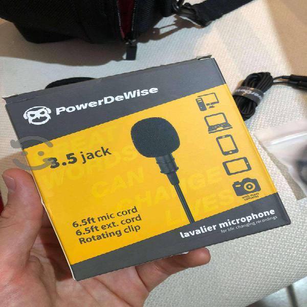 Micrófono de solapa lavalier NUEVO, PowerdeWise