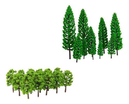 Mini Modelos De Árbol Verde 1/150 1/50 Para Modelismo