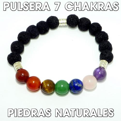 Pulsera De Los 7 Chakras Piedras Naturales Joyeria Trc25
