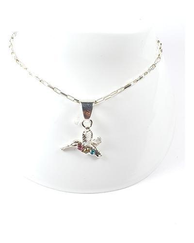Pulsera De Plata De Colibri Con Cristales Envio Gratis