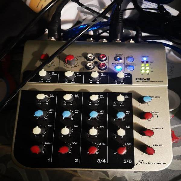 mezcladora studiomaster de 6 canales, excelente!!