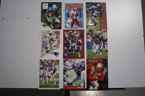 9 Tarjetas Coleccionable New England Patriots Nfl Patriotas
