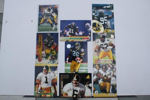 9 Tarjetas Coleccionables Pittsburgh Steelers, Acereros