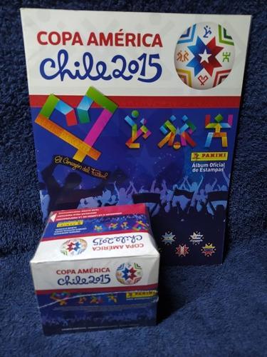 Album Y Caja Con 50 Sobres De Copa America Chile 2015 Panini