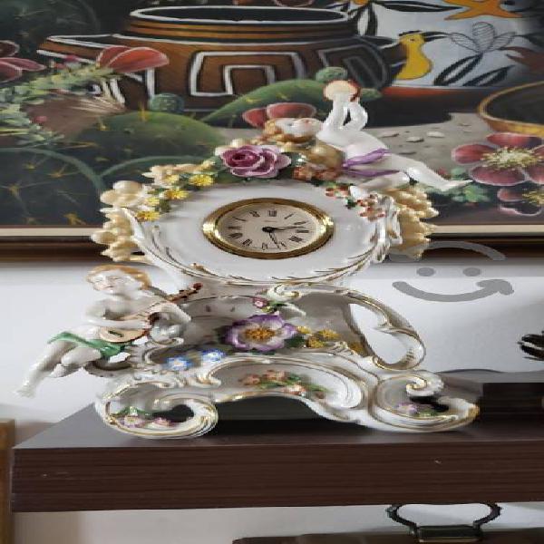 Antiguo reloj de porcelana hecho en alemania